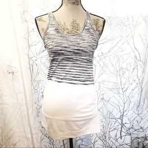 Athleta white & black tank top